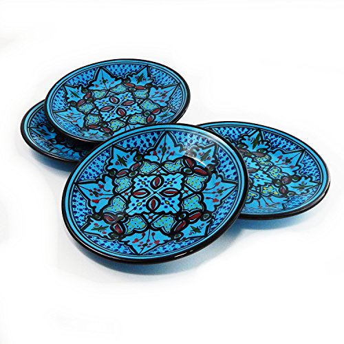 Le Souk Ceramique Side Plates, Set Of 4, Sabrine Design