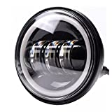 APHRODITE 1PC 4.5 Inch with DRL 30W LED Light Bulb Headlight For Jeep Wrangler MS-FG30B1