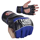 Combat Sports Pro-Style MMA Gloves, Blue, Large