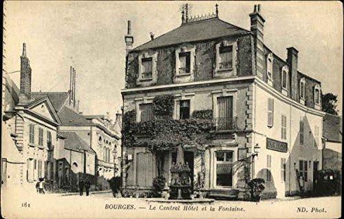 Le Central Hotel et la Fontaine Bourges, France Original Vintage Postcard (Hotel A Bourges compare prices)