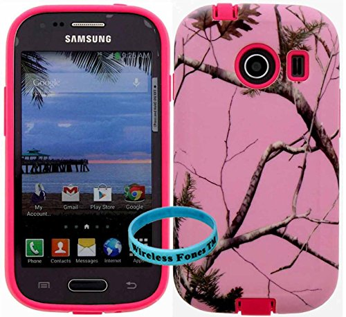 [ Samsung Galaxy Ace Style / SM-G310 / S765C ] for Net 10 Straight Talk Tracfone -Mossy Pink Camo Snap on over Pink Silicone,Wireless Fones TM Hybrid Tuff Super Compact Armor Case (Camo Cases For Samsung Galaxy Ace compare prices)