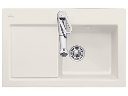Villeroy Boch Subway 45 &Cream Beige Ceramic Sink Kitchen Sink Einbau