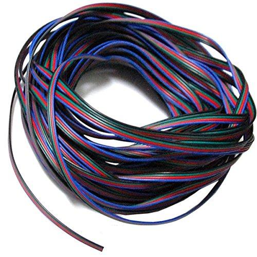 Foxnovo Dauerhafte 20M 4-Pin RGB Kabel Maßhilfslinie für LED Strip RGB5050 /RGB3528 Leuchte Lampe