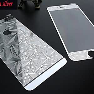 ScratchfreeBold Electroplated Mirror Finish Glossy Brushed Metal Effect Coloured 3D Diamond Front & Back Tempered Glass For Apple iPhone 5,5S,5G