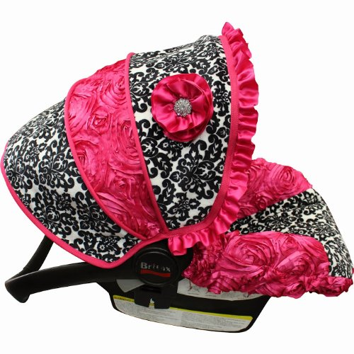 Snow Damask Rose Infant Car Seat Cover