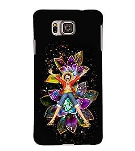 EPICCASE Happy Boy Mobile Back Case Cover For Samsung Galaxy Alpha (Designer Case)