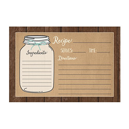 (Set of 50) Recipe Cards, 4x6 Recipe Cards, Blank Recipe Cards, Recipe Cards for Bridal Shower, Thick Recipe Card, Recipe Note Cards (Recipe Box Cards 4x6 compare prices)