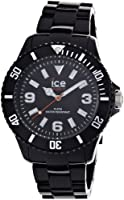 ICE-Watch - Montre Mixte - Quartz Analogique - Ice-Solid - Black - Big - Cadran Noir - Bracelet Plastique Noir - SD.BK.B.P.12
