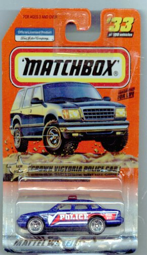 Matchbox 1999-33 Law & Order Crown Victoria Police CAR 1:64 Scale