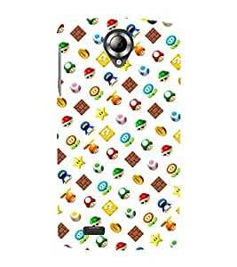 Vizagbeats super mario bros Back Case Cover for Lenovo 820