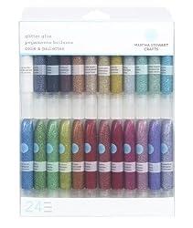 Martha Stewart Crafts Glitter Glue Set-24 Count