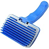 Slicker Brush For Dogs Cats Deshedding Tool & Pet Grooming Tool,Hot Selling Pet Products-Blue L