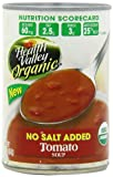 Health Valley Tomato Soup No Salt Added, 15 Ounce Cans (Pack of 12)