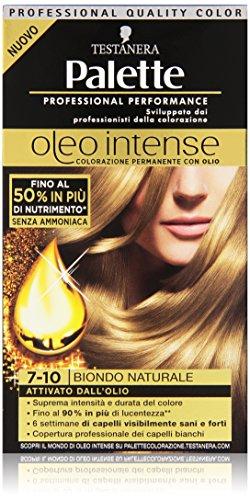Testanera - Palette, Colorazione Permanente Con Olio, 7-10 Biondo Naturale