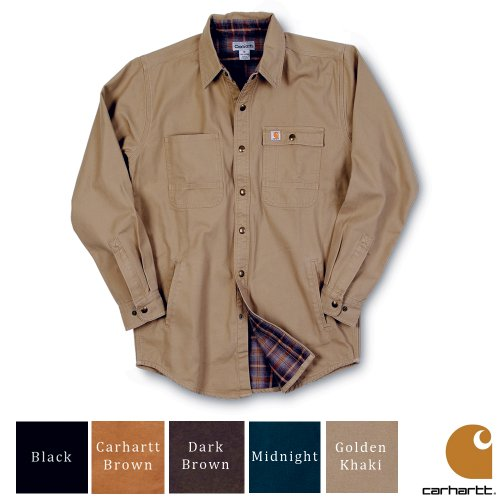 Carhartt Workwear Snap Lightweight Mens Jacket Shirt Golden Khaki XX-Large
