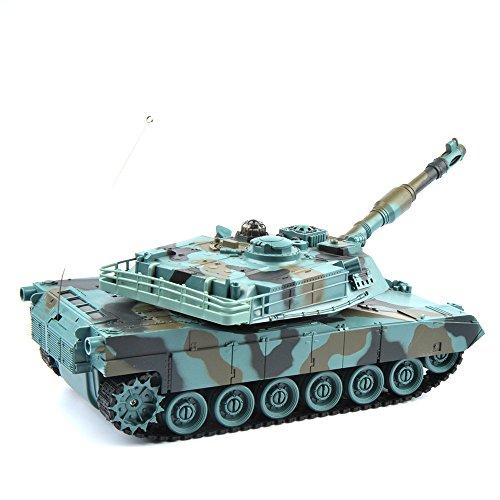 GizmoVine-RC-Kampfpanzer-USA-M1A2-128-Mastab-Ferngesteuertes-Panzer-Spielzeug-Tank-fr-Kinder-Jungs-27Mhz-Tarnung