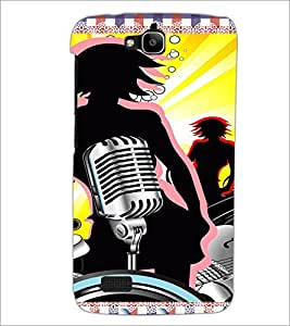 PrintDhaba Music D-4216 Back Case Cover for HUAWEI HONOR HOLLY (Multi-Coloured)