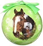 Horse Christmas Ornament Shatter Proof Ball Easy To Personalize A Perfect Gift For Horse Lovers