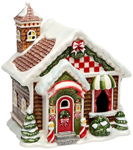Cosmos Gifts 10932 Santa's Village Ceramic Lighted House, 7-7/8-Inch (Ceramic Village Houses compare prices)