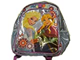Disney Frozen Anna Elsa PC & Book School Backpack Sparkle Light Blue and Balloon Bundle