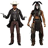 NECA The Lone Ranger - 7 Deluxe Scale Action Figure (Set of 2)