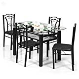 Royal Oak Indigo Four Seater Dining Table Set (Black)