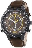 Timex Herren-Armbanduhr XL Tide Temp Compass Analog Quarz Leder T2P141