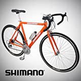 New 54cm Aluminum Road Bike Racing Bicycle 21 Speed Shimano - Orange Color