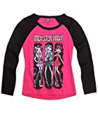 Girls Monster High Long Sleeve T-Shirt Monster High Top Pink & Black From Ages 8 to 14 Years