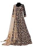 Prenea Women's Black Bridal Unstitched Anarkali Suit