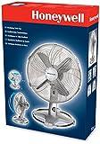 Honeywell HT-216E 12-inch Oscillating Table Fan - Chrome