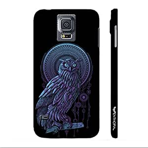 Samsung Galaxy S5 Holy Owl designer mobile hard shell case by Enthopia