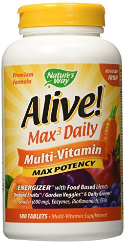 Alive Max3 Potency  Multivitamin, 180 tablets