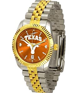 Texas Longhorns NCAA AnoChrome Executive Mens Watch by SunTime