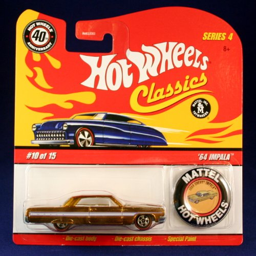'64 IMPALA (GOLD) 2007 Hot Wheels Classics 1:64 Scale SERIES 4 Die Cast Vehicle