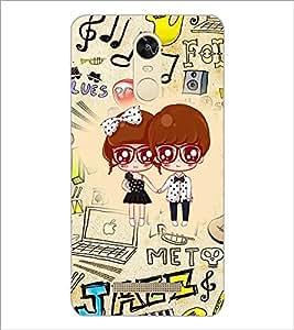 PrintDhaba Cartoon D-4242 Back Case Cover for XIAOMI REDMI NOTE 3 (MEDIA TEK) (Multi-Coloured)