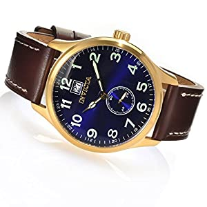 Invicta 15514 Mens 44mm I Force Quartz Stainless Steel Leather Strap Watch