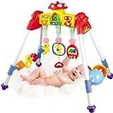 【Always 高品質!】大人気!!赤ちゃんのおもちゃとしてお勧め! 元気いっぱいベビージム メロディげんきジム  一つ一つの飾りおもちゃ取り外し可能! 安全/無毒/環保/耐磨き Multi Sports&Music Rack for babies