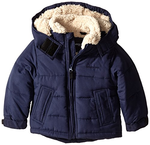 London Fog Little Boys' Toddler Classic Puffer Coat, Navy Solid, 3T