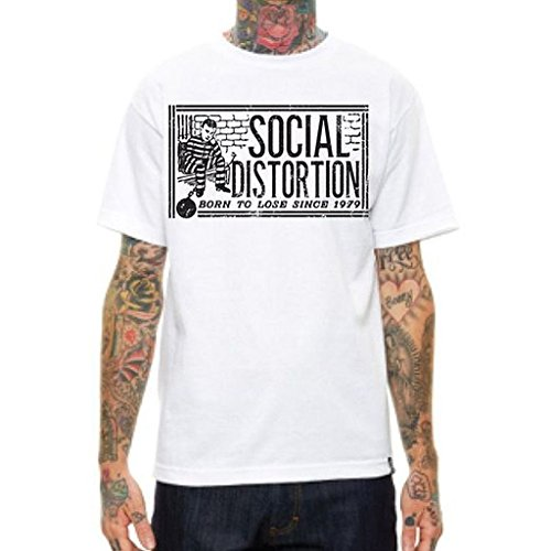 Social Distortion Ball and Chain White T-Shirt