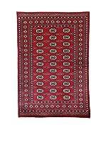 L'Eden del Tappeto Alfombra Kashmirian Rojo / Azul 135 x 198 cm