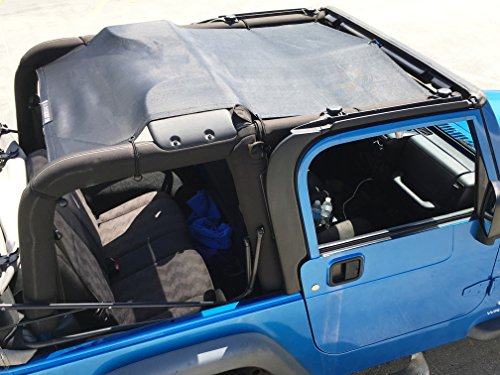 Alien Sunshade Jeep Wrangler Mesh Bikini Top Cover Provides UV Protection for Your TJ (1997-2006) (Original Black) TJFB (Screen Door Bar For Camper compare prices)