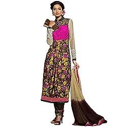 Vasu Saree for Women Multi Colour Cotton Anarkali Salwar Suit
