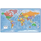 Swiftmaps World Premier Wall Map Poster Mural 24h x 36w Laminated