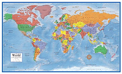Swiftmaps World Premier Wall Map Poster Mural 24h x 36w (The World Of Maps compare prices)