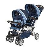 【二人乗りベビーカー】生後6ヶ月から使用可能 BabyTrend シットアンドスタンド ダブル (ネイビー×ブルー)Vision #SS76526【直輸入品・即納可】