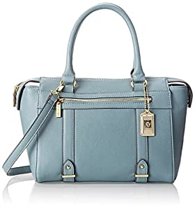 Anne Klein Military Luxe Top Handle Satchel,Blue Belle,One Size