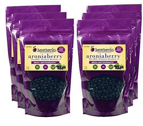 6 Pk Fresh-frozen Aroniaberries (Chokeberry), 32 Oz. Package by Superberries (Wellness Care Package compare prices)