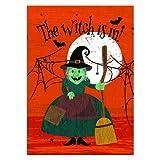 "Witch is in! Halloween Outdoor Garden Mini Yard Decoration Flag 13"" x 18.5"""