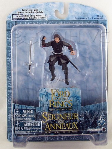 1:24 Scale ARAGORN IN HELM'S DEEP ARMOR Battle Scale Figure - Lord of the Rings: Armies of Middle Earth Series